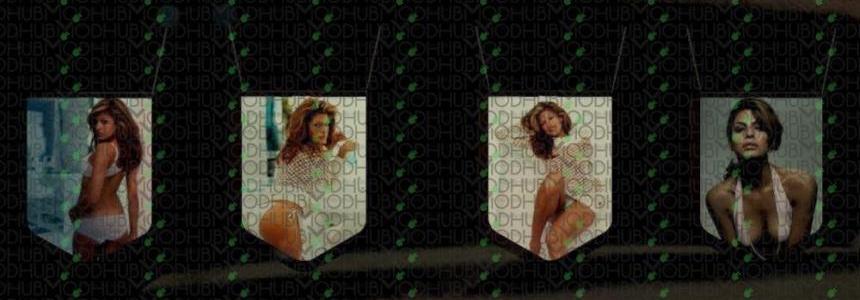 Eva Mendes Pennants Pack #1
