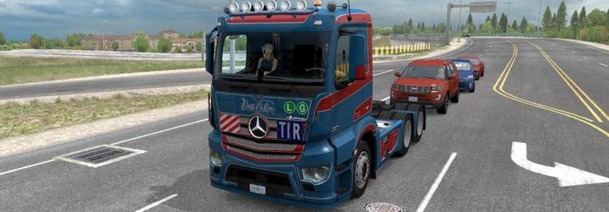 D3S Mercedes Antos 12 for ATS 1.32.x