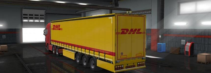 DHL Trailer Skin (Owned SCS Trailer) v1.0