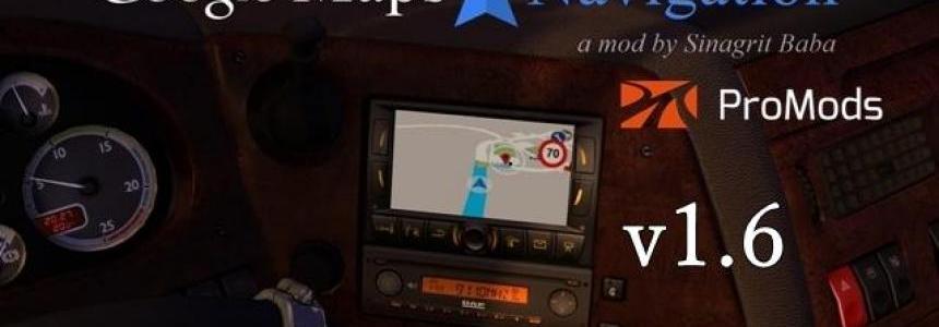 Google Maps Navigation for ProMods v1.6