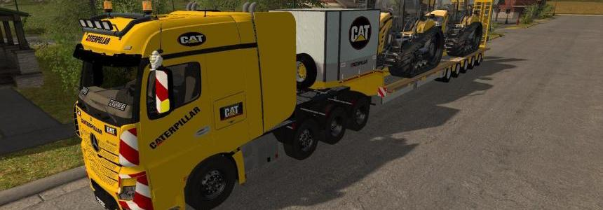 MB Actros SZM Cat + Doll Tieflader Cat v1.0