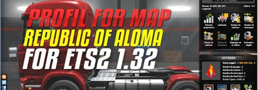 Profil For Map Republic of Aloma For ETS2 1.32