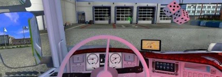 Red and white interior for 50k Scania v1.0
