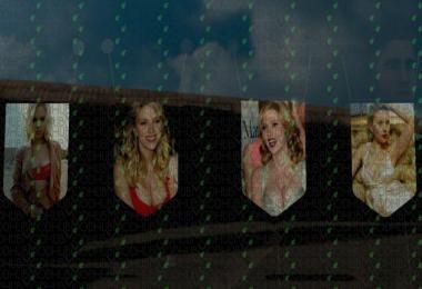 Scarlett Johansson Pennants Pack #2