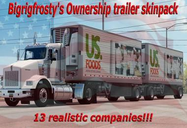 [ATS] Bigrigfrosty's Real Company Trailers Ownership v1.0