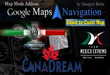 ATS - Google Maps Navigation Normal & Night Map Mods Addons