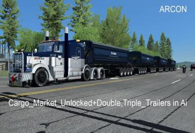 Cargo Market Unlocked + Double, Triple Trailers in Ai v1.0