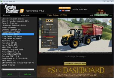 FS19 Factsheets Software v1.5