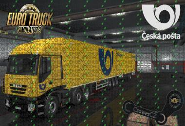 Iveco Combo Pack Ceska Posta Ownership Trailer Skin v1.0