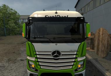 Mercedes Actros MP4 turn signals on the mirrors 1.32.x