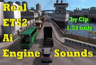 Real AI Traffic Engine Sounds ETS2 v1.0