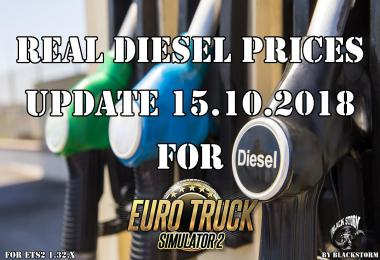 Real Diesel Prices for ETS2 map (15.10.2018)