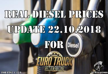 Real Diesel Prices for ETS2 map (upd.22.10.2018)