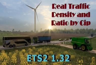 Real Traffic Density and Ratio ETS2 1.32.x