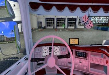 Red and white interior for 50k Scania v1.0