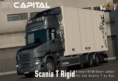 Rigid chassis for RJL Scania T & T4 (Kraker / NTM / VAK / Ekeri) v3.2.1