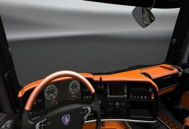 Scania Streamline Black Orange Interior Luxury V8 v1.0