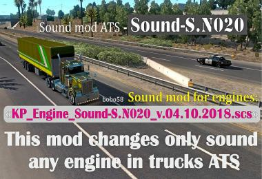 Sound mod for engines in trucks ATS 1.32.x