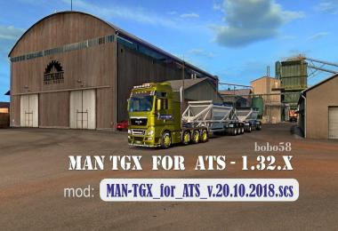 Truck MAN TGX in ATS 1.32.x