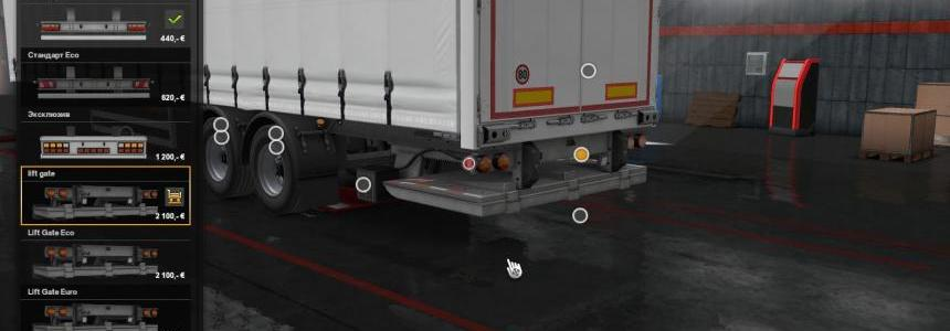 3 Types of lift gate for SCS Trailers v1.0