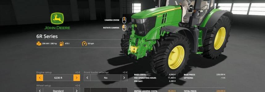 John Deere 6R with SeatCam v1.0.0.0