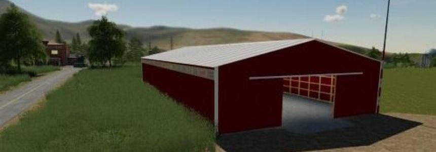 72X150 Red Storage shed prefab v1.0