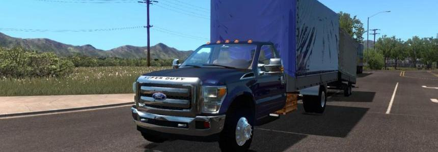 Ford F-450 + Mini Trailer for ATS 1.32