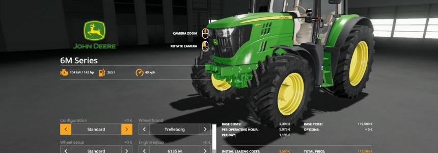 John Deere 6M Series with SeatCam v1.0