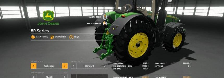 John Deere 8R with SeatCam v1.0.0.0