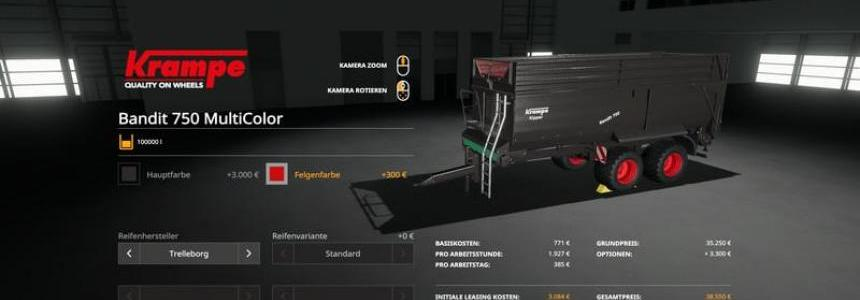 Krampe Bandit750 - MultiColor 100000 liters v1.0