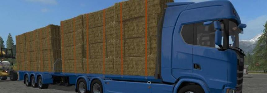 Scania S Flatbed and Matching Trailer v1