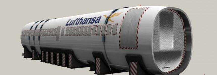 Trailer Airbus A319 Fuselage 1.32