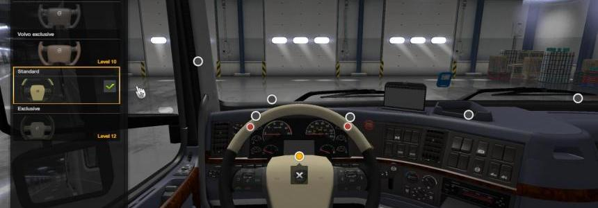 Two Steering Wheels for Volvo VNL 1.32.x