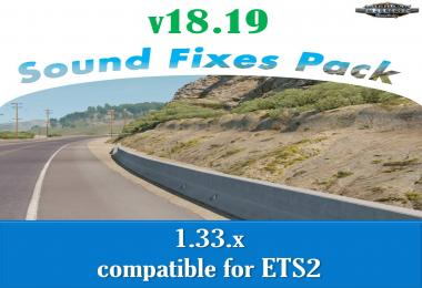 [ATS] Sound Fixes Pack v18.19 1.33.x