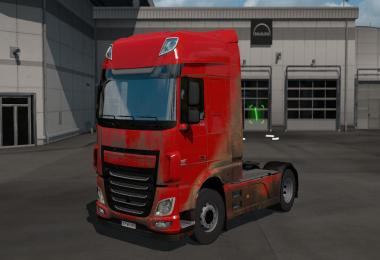 Dirt skins for DAF XF Euro6 v1.0