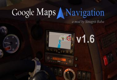 ETS 2 - Google Maps Navigation v1.6