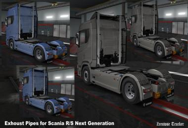 Exhaust Pipes Scania R/S 2016 v1.0