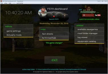 FS19 Dashboard v1.0