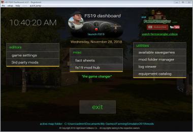 FS19 Dashboard v1.0