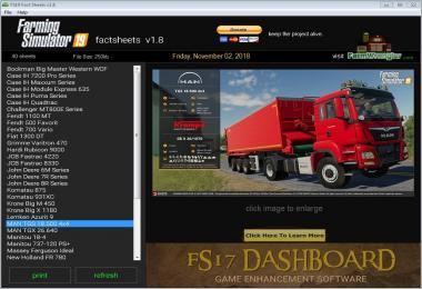 FS19 Factsheets Software v1.8