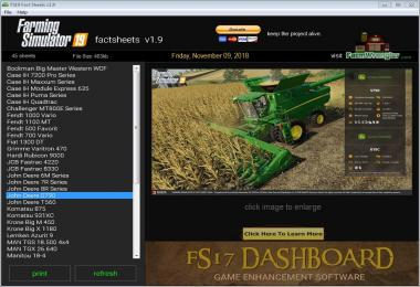 FS19 Factsheets Software v1.9