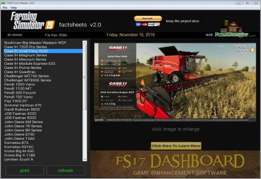 FS19 Factsheets Software v2.0