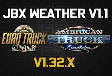 JBX Weather for ATS - ETS2 v1.1
