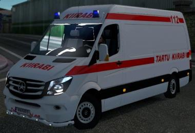 Mercedes Sprinter Estonia Ambulance (Eesti kiirabi) v1.0