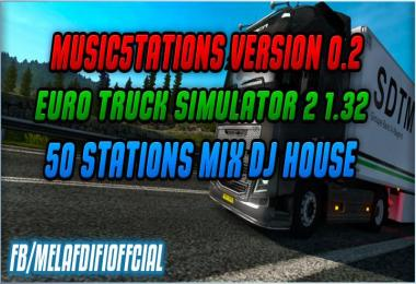 Music5tations v0.2 For ETS2 ATS 1.33