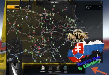 New Slovakia Map by KimiSlimi v9.0