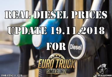 Real Diesel Prices for ETS2 map (Upd 19.11.2018)