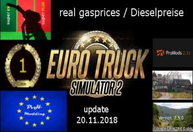 Real gasprices/Dieselpreise update 20.11 v4.1