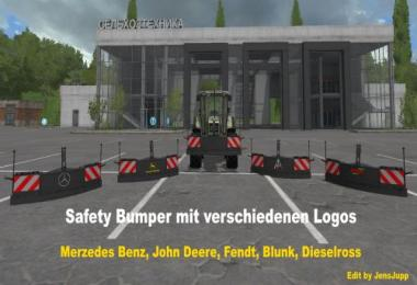 Safety bumper with configurable logos v1.1