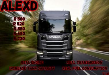 Scania R Real Engine and Transmission by alexdedu